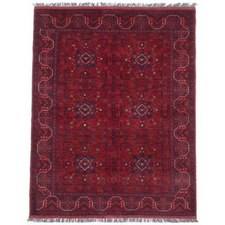 eCarpetGallery Finest Khal Mohammadi Red Wool Hand-knotted Oriental Area Rug (5' x 6'7)