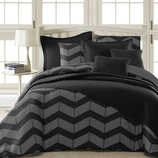Comfy Bedding Spot Chevron Microfiber 5-piece Comforter Set