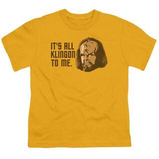 Star Trek/All Klingon Short Sleeve Youth 18/1 Gold