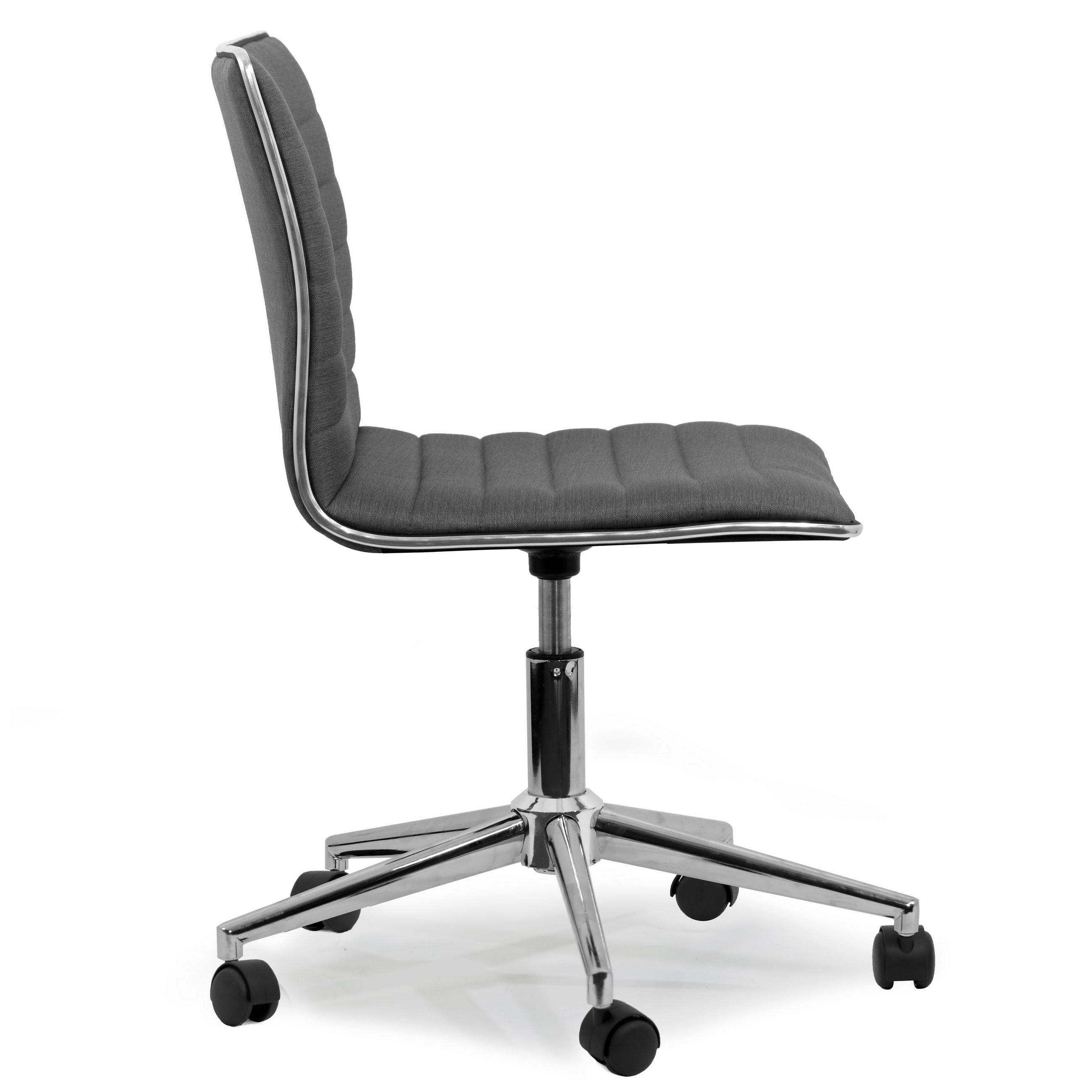 Chrome Metal Swivel Office Chair