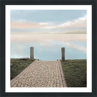 "Alan Blaustein ""Sunrise Harbor Vista"" Framed Plexiglass Wall Décor"