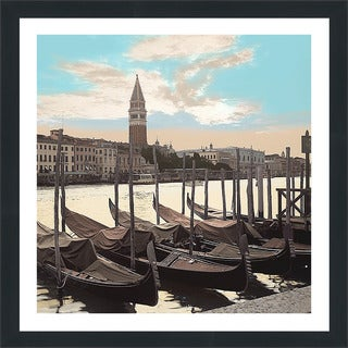 "Alan Blaustein ""Campanile Vista with Gondolas"" Framed Plexiglass Wall Décor"