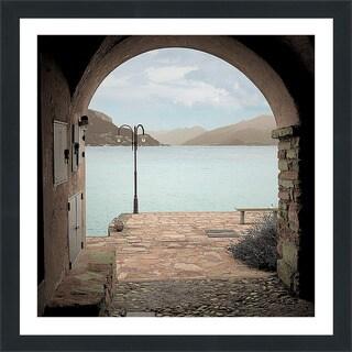 "Alan Blaustein ""Lakeside Portal Promenade"" Framed Plexiglass Wall Décor"