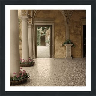 "Alan Blaustein ""Villa Portico No. 2"" Framed Plexiglass Wall Décor"