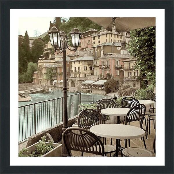 """Alan Blaustein """"Porto Caffè, Italy"""" Framed Plexiglass Wall Décor"""