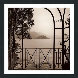 "Alan Blaustein ""Vista di Lago No. 1"" Framed Plexiglass Wall Décor"