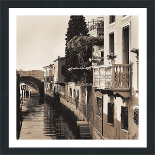 "Alan Blaustein ""Ponti di Venezia No. 5"" Framed Plexiglass Wall Décor"