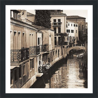 "Alan Blaustein ""Ponti di Venezia No. 4"" Framed Plexiglass Wall Décor"