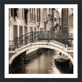 "Alan Blaustein ""Ponti di Venezia No. 1"" Framed Plexiglass Wall Décor"