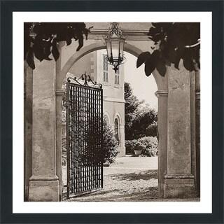 """Alan Blaustein """"Giardino Mortola"""" Framed Plexiglass Wall Décor"""