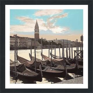 "Alan Blaustein ""Campanile Vista with Gondolas #1"" Framed Plexiglass Wall Décor"
