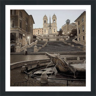 "Alan Blaustein ""Spanish Steps Rome #1"" Framed Plexiglass Wall Décor"