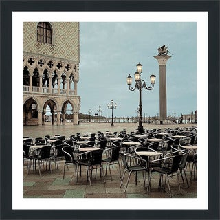 "Alan Blaustein ""Piazza San Marco #4"" Framed Plexiglass Wall Décor"