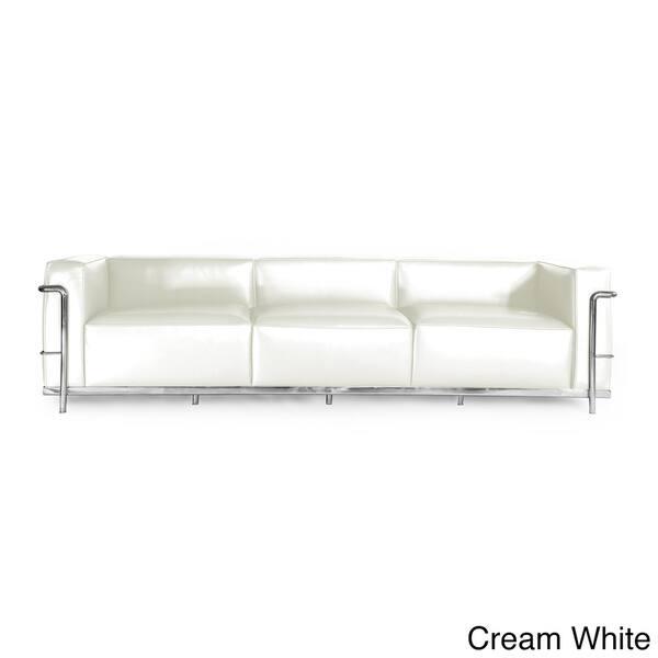 Awe Inspiring Shop Kardiel Roche Premium Aniline Leather 3 Seat Sofa Customarchery Wood Chair Design Ideas Customarcherynet
