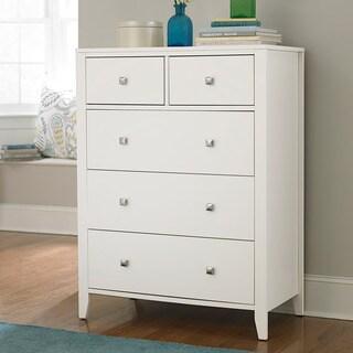 NE Kids Pulse White Wood Veneer Five-drawer Chest