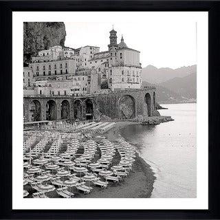 "Alan Blaustein ""Ombrellone da Spiaggia #31"" Framed Plexiglass Wall Décor"