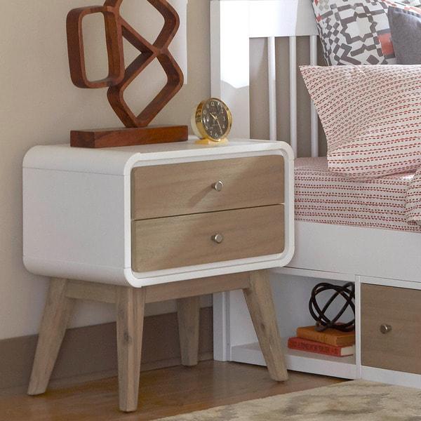 East End Multicolored Wood/Veneer 2-drawer Nightstand