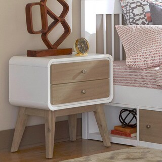 East End Multicolored Wood/Veneer 2-drawer Nightstand