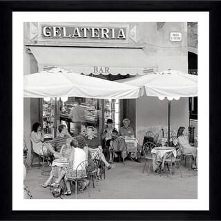 "Alan Blaustein ""Tuscany Caffe #21"" Framed Plexiglass Wall Décor"
