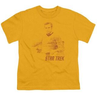 Star Trek/Kirk Words Short Sleeve Youth 18/1 in Gold