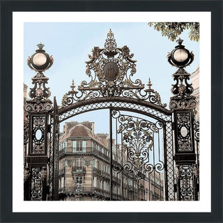 "Alan Blaustein ""Paris Gates #2"" Framed Plexiglass Wall Décor"
