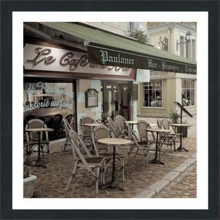 "Alan Blaustein ""Le Cafe des Arts"" Framed Plexiglass Wall Décor"