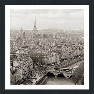 """Alan Blaustein """"Above Paris #25"""" Framed Plexiglass Wall Décor"""