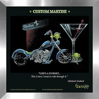 "Michael Godard ""Custom Martini"" Fine Framed & Canvassed Wall Art"