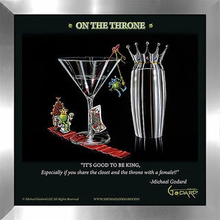 "Michael Godard ""On the Throne"" Fine Framed & Canvassed Wall Art"