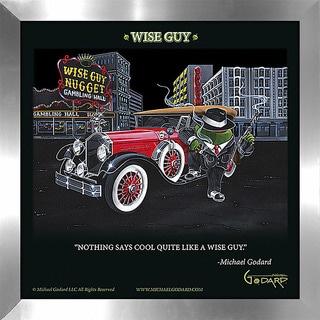 "Michael Godard ""Wise Guy"" Fine Framed & Canvassed Wall Art"