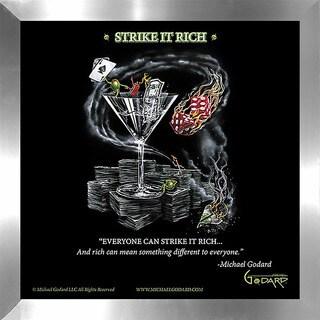 """Michael Godard """"Strike It Rich"""" Fine Framed & Canvassed Wall Art"""