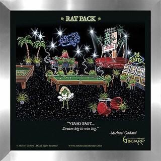 """Michael Godard """"Rat Pack"""" Fine Framed & Canvassed Wall Art"""