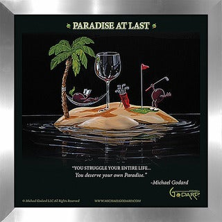 "Michael Godard ""Paradise At Last"" Fine Framed & Canvassed Wall Art"