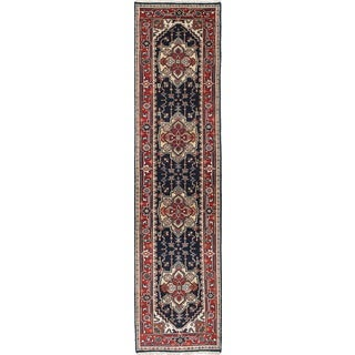 eCarpetGallery Serapi Heritage Blue/Red Hand-knotted Wool/Cotton Rug (2' x 10')