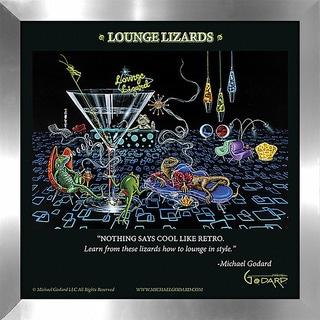 """Michael Godard """"Lounge Lizards"""" Fine Framed & Canvassed Wall Art"""