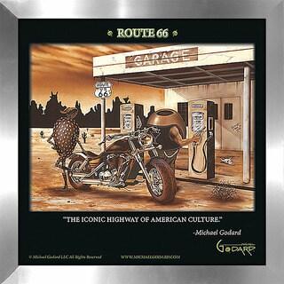 "Michael Godard ""Historic Route 66"" Fine Framed & Canvassed Wall Art"
