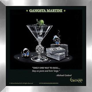 "Michael Godard ""Gangsta Martini (Living Large)"" Fine Framed & Canvassed Wall Art"