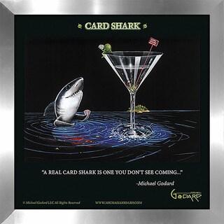 "Michael Godard ""Card Shark"" Fine Framed & Canvassed Wall Art"
