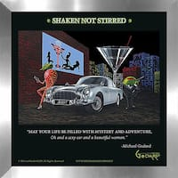 """Michael Godard """"Bond 7 (Shaken Not Stirred)"""" Fine Framed & Canvassed Wall Art"""