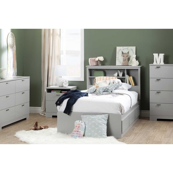 shop south shore furniture reevo 39 inch twin bookcase headboard free shipping today. Black Bedroom Furniture Sets. Home Design Ideas