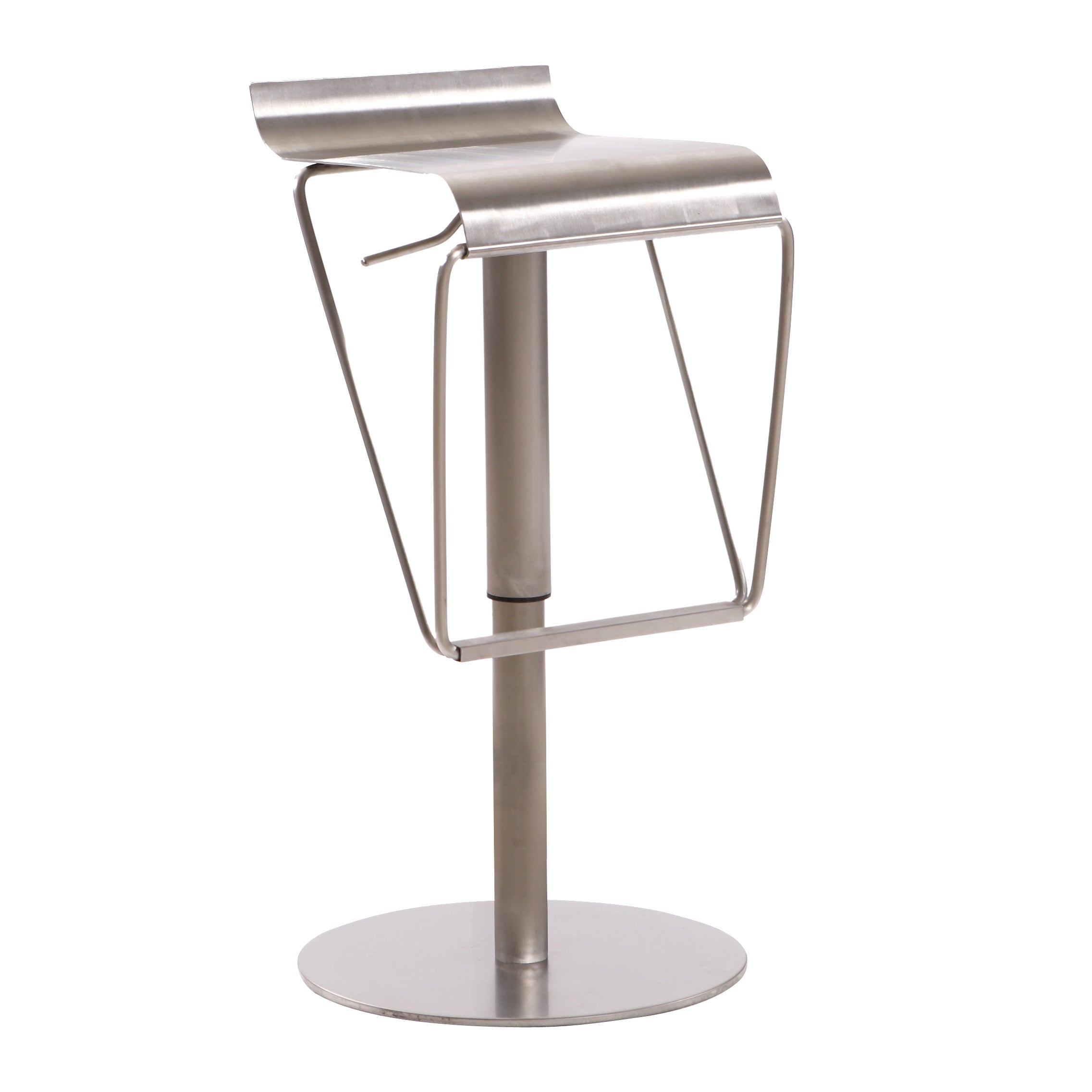 USA Lorenzo Silver Stainless Steel Low-back Barstool (Stainless Steel)