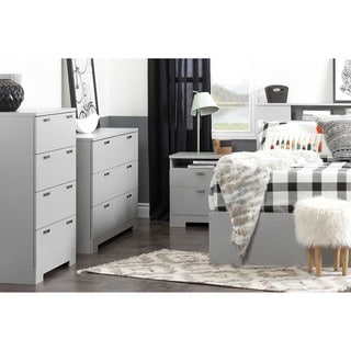 South Shore Reevo Queen Mates Bed (60'') with 2 Drawers