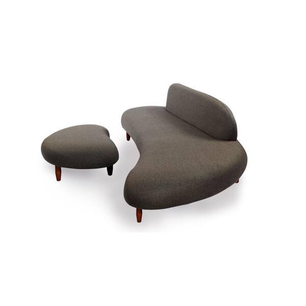 Remarkable Shop Sculpt Mid Century Modern Sofa Ottoman Walnut Legs Uwap Interior Chair Design Uwaporg