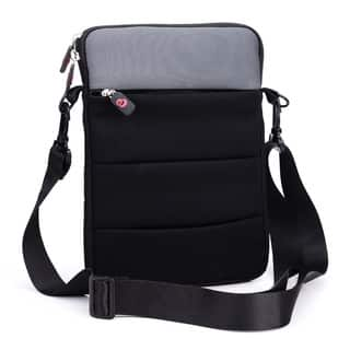 Kroo Grey/Purple Neoprene 10-inch Tablet Sleeve With Shoulder Strap and Front Zipper Pocket|https://ak1.ostkcdn.com/images/products/12816651/P19584891.jpg?impolicy=medium