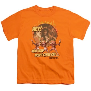 Labyrinth/Head Don't Come Off Short Sleeve Youth 18/1 Orange