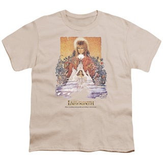 Labyrinth/Movie Poster Short Sleeve Youth 18/1 Cream