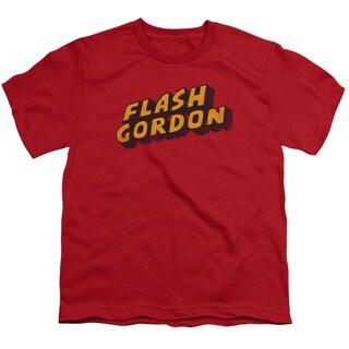 Flash Gordon/Logo Short Sleeve Youth 18/1 in Red