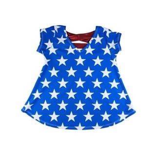 Girl Power Sport Team USA Blue Star Swing Top
