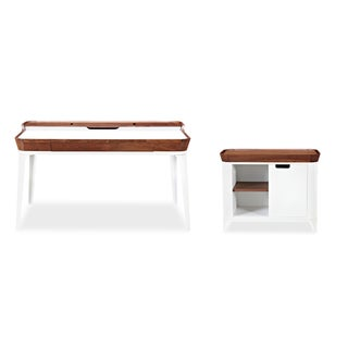 Kardiel Mid-century Modern Garbo Desk and Cabinet Set