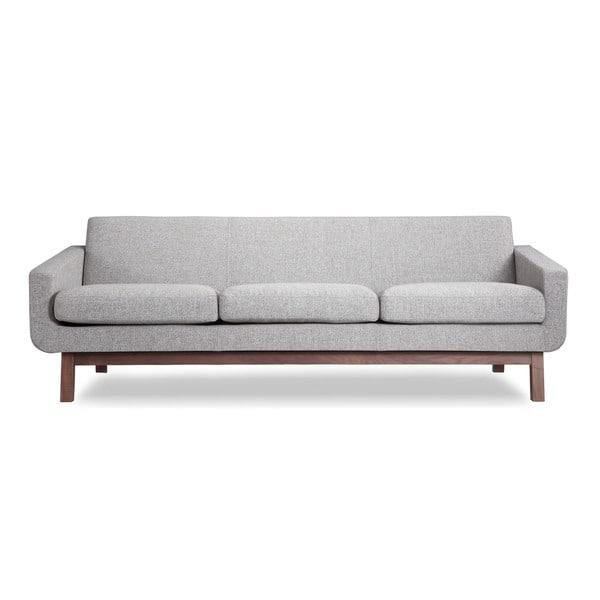 Shop Kardiel Mid-Century Modern Walnut Wood Platform Sofa ...